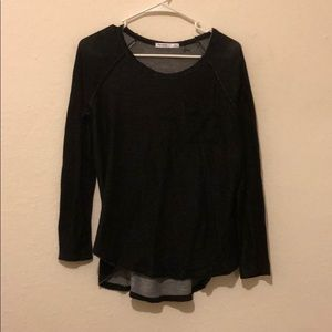 Dark Blue Longsleeve Scoop Neck